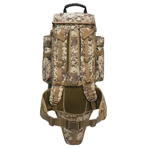 East West U.S.A Tactical Backpack 3 East West U.S.A RT538/RTC538 Tactical Molle Military Assault Rucksacks Backpack, Tan ACU