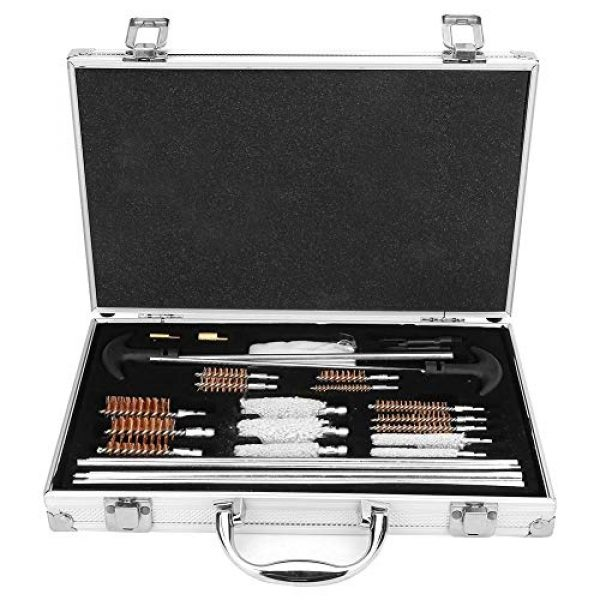 Vikye Rifle Cleaning Kit 1 Rifle Cleaning Kit, 103 Pcs Universal Gun Cleaning Tools Kit, Rifle Pistol Handgun Shotgun Firearm Cleaner Tool Made of Wire Brush and Cotton