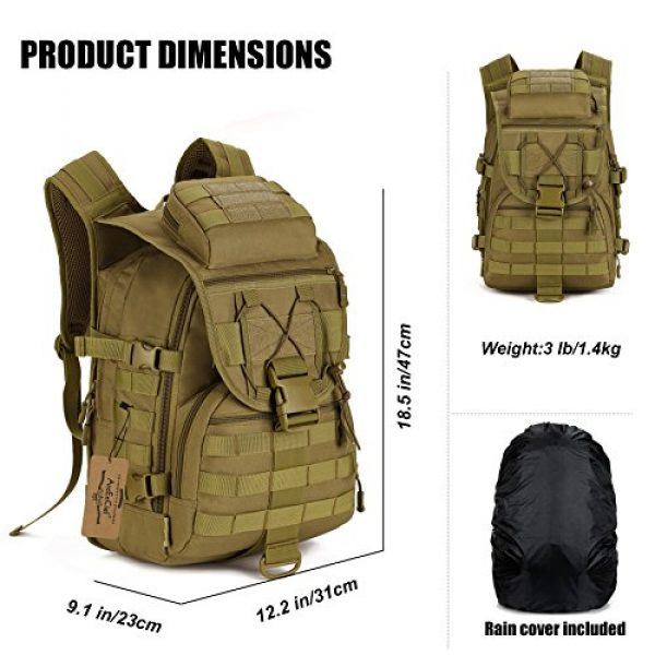 ArcEnCiel Tactical Backpack 5 ArcEnCiel Tactical Backpack Military Army 3 Day Assault Pack - Rain Cover Included