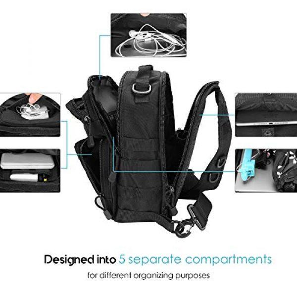 ProCase Tactical Backpack 4 ProCase Tactical Sling Bag Pack with Pistol Holster, Military Rover Sling Shoulder Backpack Outdoor Sport Daypack for Hunting, Trekking and Camping -Black