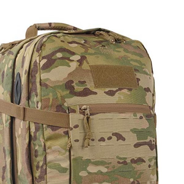 Tasmanian Tiger Tactical Backpack 3 Tasmanian Tiger Mission Pack Mk II, 37L Combat Backpack with Laser Cut MOLLE System, YKK RC Zippers