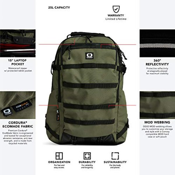 OGIO Tactical Backpack 3 OGIO ALPHA Convoy 525 Laptop Backpack