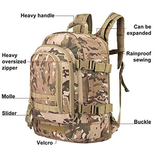 Scorpion Tactics Tactical Backpack 5 Scorpion Tactics Expandable Outdoor Large Backpack Tactical Backpack Army Assault Rucksack Pack Bug Out Bag TAN ST-LAB202006