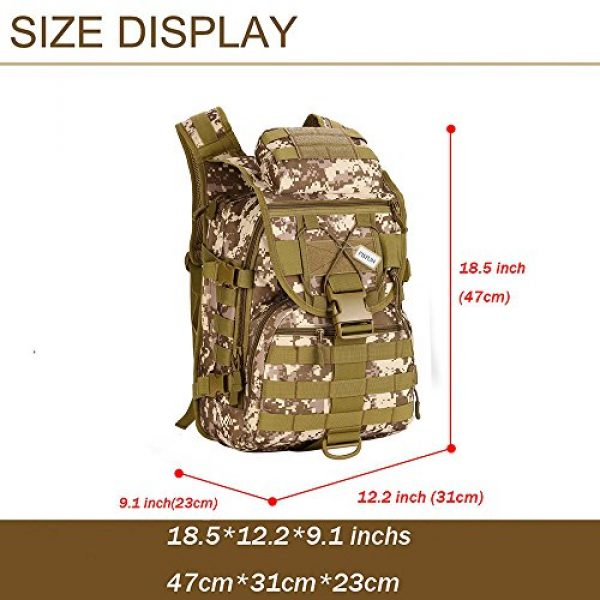 Pisfun Tactical Backpack 3 Pisfun Tactical Backpack 40L Camping Bags Waterproof Molle System Backpack Military 3P Tad Assault Travel Bag for Men Cordura