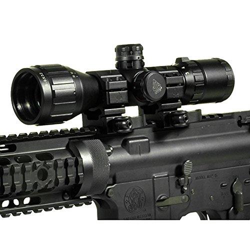 """UTG Rifle Scope 3 UTG 3-9X32 1"""" BugBuster Scope, AO, RGB Mil-dot, QD Rings"""