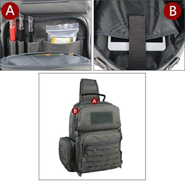 LQArmy Tactical Backpack 6 LQArmy Tactical Sling Bag Day Pack Military Rover Shoulder Backpack Small EDC Molle Assault Range Bags for Everyday Carry Out