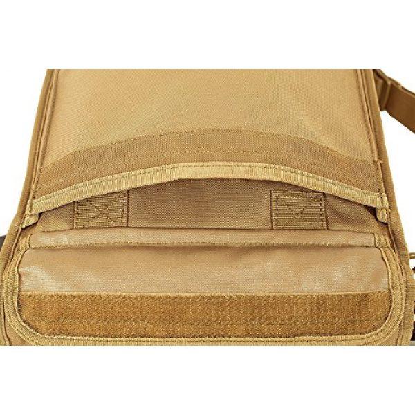 "Seibertron Tactical Backpack 7 Seibertron Expandable 14"" Laptop Waterproof Messenger Bag Multiple Pockets & Compartments Carry as Messenger Bags Khaki"