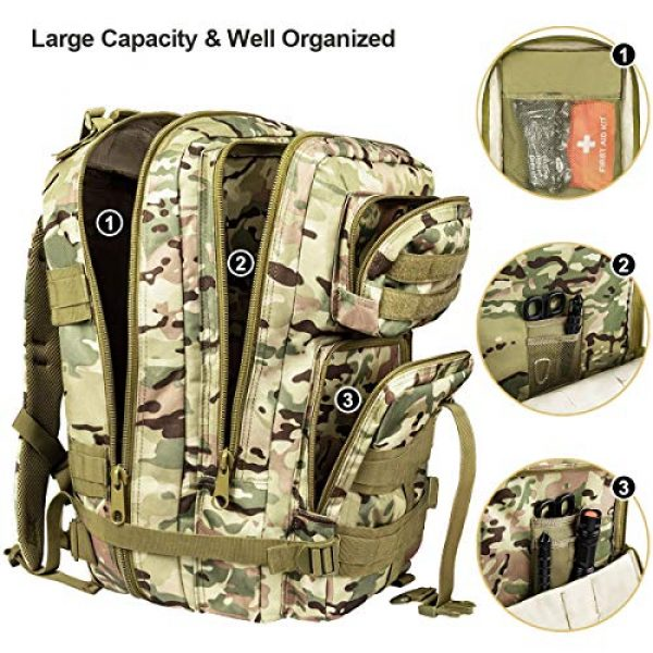 NOOLA Tactical Backpack 4 NOOLA Military Tactical Backpack Large Army 3 Day Assault Pack Molle Bag Rucksack
