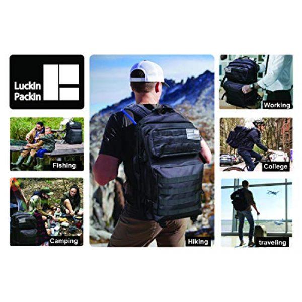 Luckin Packin Tactical Backpack 2 Luckin Packin Tactical Backpack,Military Backpack,Molle Bag Rucksack Pack,45 Liter Large