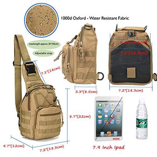 "LBlanco Tactical Backpack 4 LBlanco Tactical Shoulder Sling Bag Small Outdoor Chest Pack for Men Traveling, Trekking, Camping, Rover Sling Daypack """