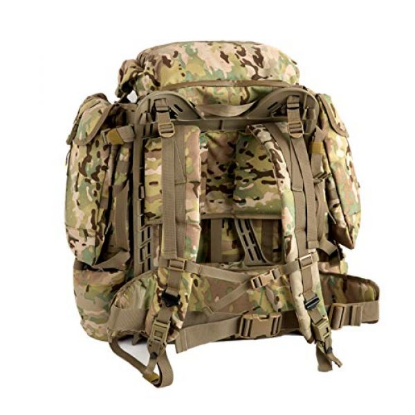 MT Tactical Backpack 4 MT Assembly Military Rucksack Tactical Assault Backpack Hydration Pack System with Frame and Hip Belt Multicam