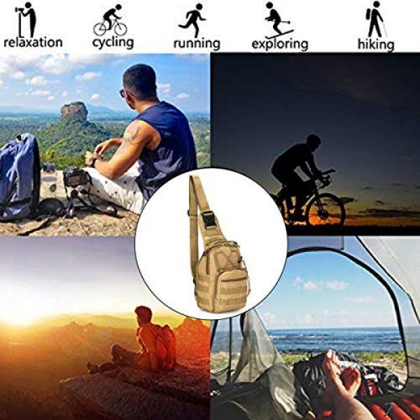 "LBlanco Tactical Backpack 6 LBlanco Tactical Shoulder Sling Bag Small Outdoor Chest Pack for Men Traveling, Trekking, Camping, Rover Sling Daypack """