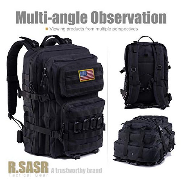 R.SASR Tactical Backpack 2 Upgrade Tactical Military Molle Backpack Army Waterproof Backpack.