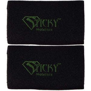 Sticky Holsters Tactical Sticky Holder 1 Sticky Holsters - Belt Slider - Elastic Ammunition Magazine Carrier for Belts Up to 1.75 Inches (2 Pack)