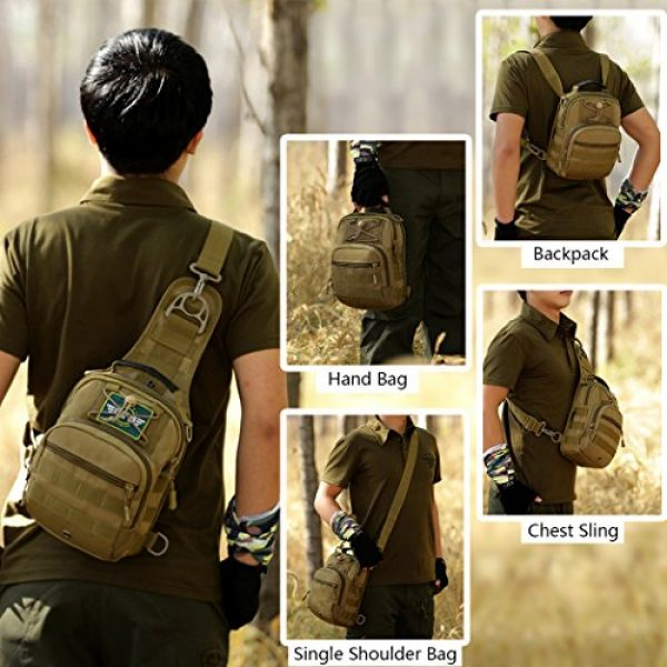 IDOGEAR SPORTS Tactical Backpack 7 IDOGEAR Tactical Sling Bag Pack Small EDC Molle Assault Military Army Shoulder Backpack