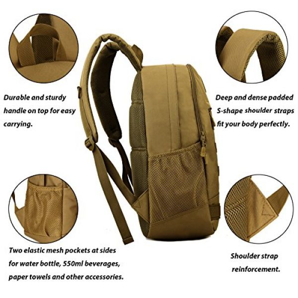 ArcEnCiel Tactical Backpack 3 ArcEnCiel Motorcycle Backpack Tactical Military Bag Army Assault Pack Rucksacks with Patch - Rain Cover Included