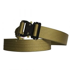 "Fusion Tactical Belt 1 Fusion Tactical Military Police Riggers Belt Coyote Brown Small 28-33""/1.75"" Wide"