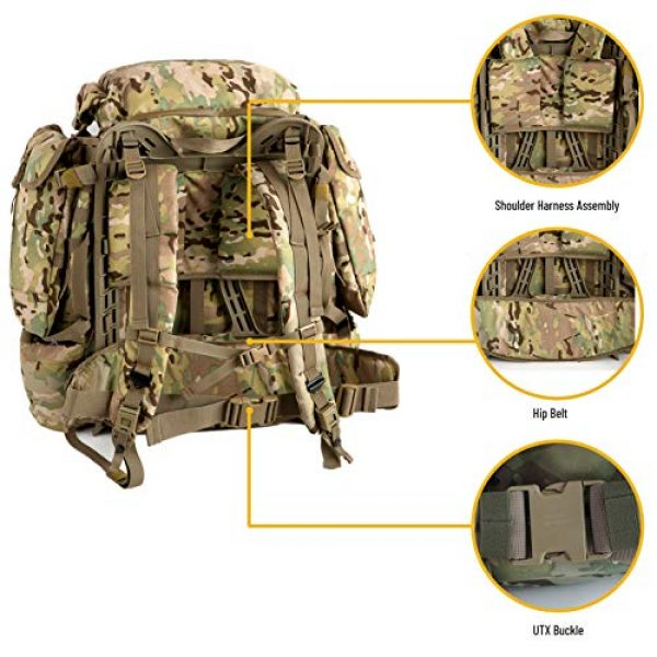 MT Tactical Backpack 5 MT Assembly Military Rucksack Tactical Assault Backpack Hydration Pack System with Frame and Hip Belt Multicam