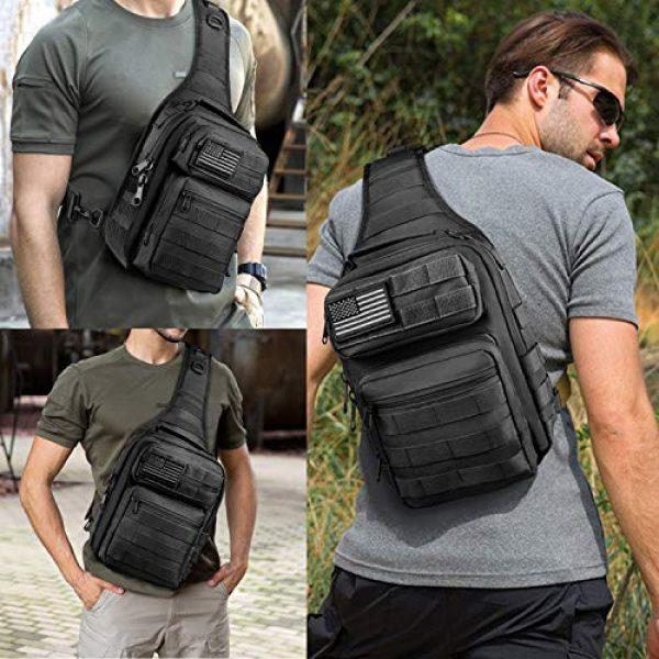 CVLIFE Tactical Backpack 7 CVLIFE Tactical Sling Bag Pack Military Rover Shoulder Sling Backpack Molle Range Bag EDC Small Day Pack with Padding Pocket