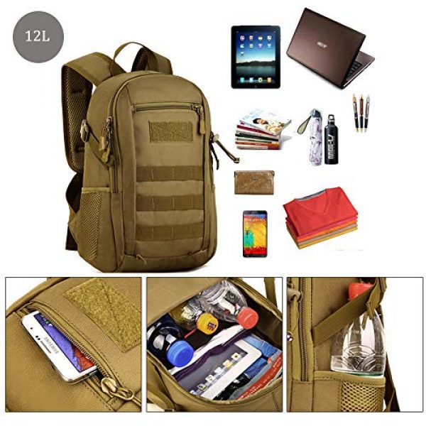CREATOR Tactical Backpack 5 12L Tactical Backpack MOLLE Military Daypack Travel Bag for Hunting