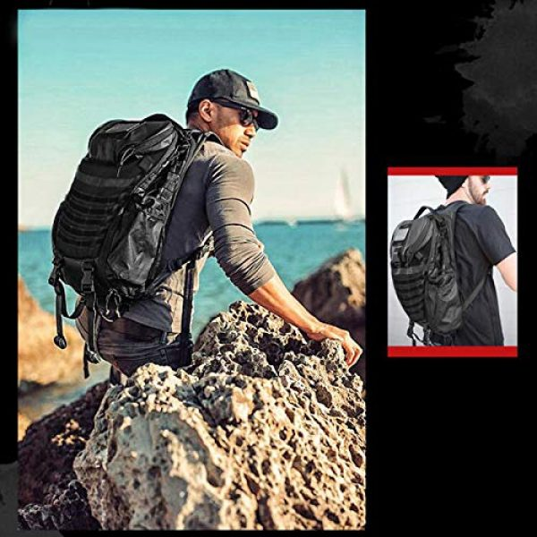 DIGBUG Tactical Backpack 3 DIGBUG Military Tactical Backpack Army 3 Day Assault Pack Bag Rucksack w/Rain Cover Outdoor Hiking Camping Backpack
