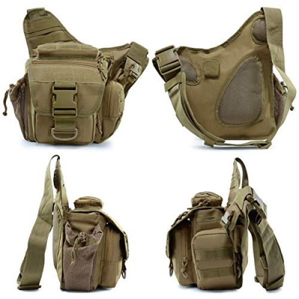BraveHawk OUTDOORS Tactical Backpack 2 BraveHawk OUTDOORS Tactical Messenger Bag, 900D Oxford Waterproof Outdoor EDC Sling Pack for Fishing Hiking Camping Trekking Cycling