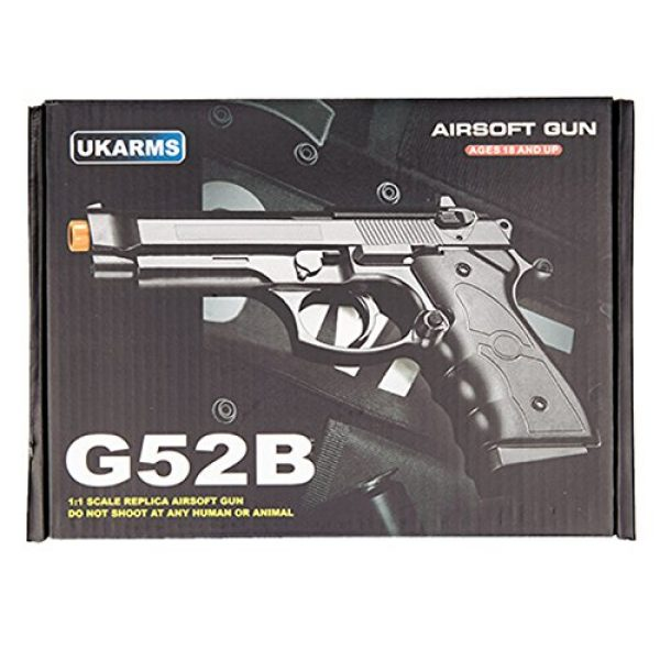 UKARMS Airsoft Pistol 4 UKARMS G52B Spring Powered Tactical Airsoft Pistol w/ 6mm BBS + Detachable Magazine