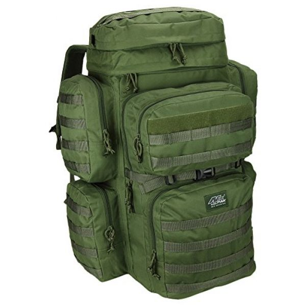 NPUSA Tactical Backpack 1 Mens 26 Inch Large Military Tactical Gear Molle Hydration Ready Hiking Backpack Bag + Sunglasses