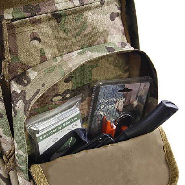 HIGHLAND TACTICAL Tactical Backpack 5 Highland Tactical Men's Basecamp Heavy Duty Tactical Backpack