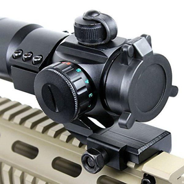 LIVABIT Rifle Scope 3 LIVABIT Tactical Red Green Mil-Dot Illuminated Holographic Rifle Scope Optics Sight Picatinny Cantilever Mount