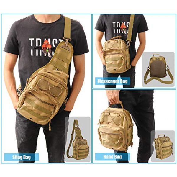 Gisdanchz Tactical Backpack 7 Gisdanchz Outdoor Tactical Molle Bag Military Backpack Sling Crossbody Shoulder Bags for Men Women