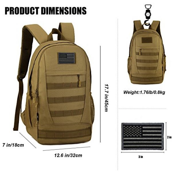 ArcEnCiel Tactical Backpack 5 ArcEnCiel Motorcycle Backpack Tactical Military Bag Army Assault Pack Rucksacks with Patch - Rain Cover Included