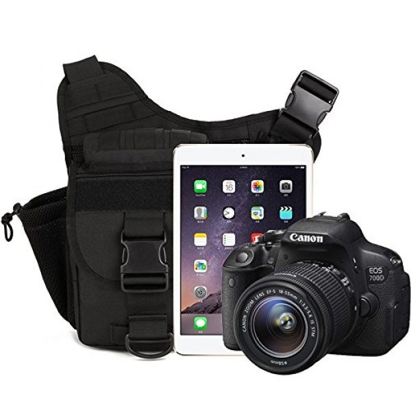 DYJ Tactical Backpack 2 DYJ Multi-Functional Tactical Camera Messenger Bag Fishing Tackle Bag Military Shoulder Bag Backpack EDC Sling Pack for Hiking Camping Trekking Cycling