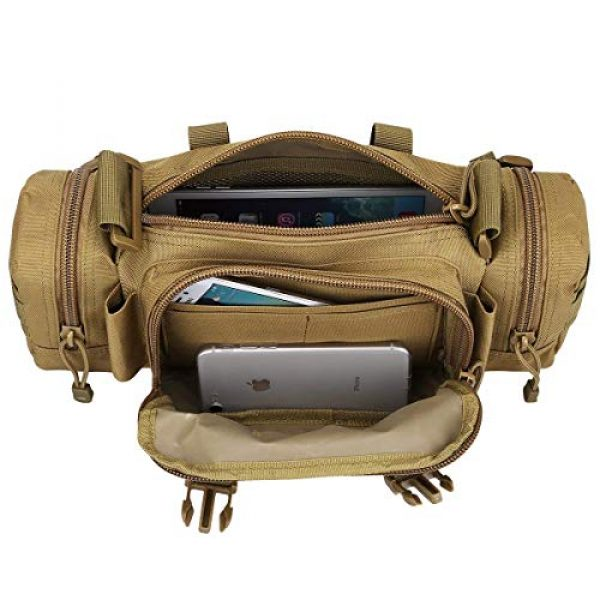 FAMI Tactical Backpack 2 FAMI Fanny 3P Military Tactical Pouch Backpack Range Bags Molle attachments Pouch Small EDC Sling Pack Hand Carry Bag