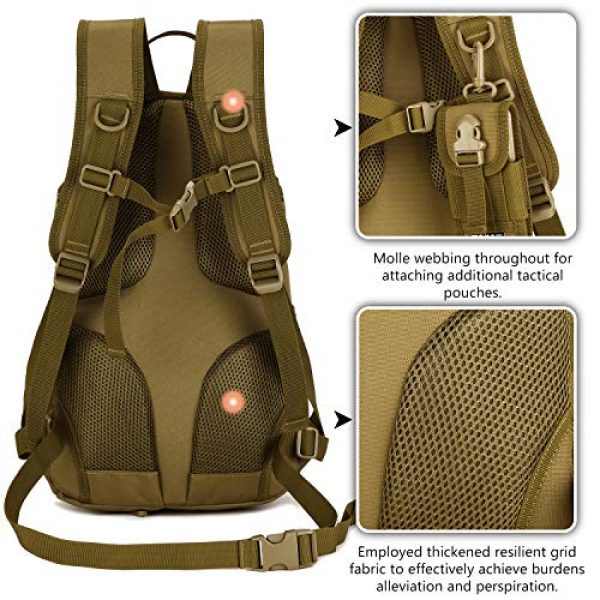 Protector Plus Tactical Backpack 2 Protector Plus Tactical Motorcycle Backpack Small Military MOLLE Cycling Hydration Daypack (Patch Included)
