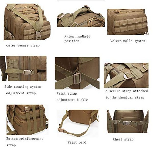 Suoki Tactical Backpack 4 Molle Assault Pack 45L Military Tactical Backpack 3 Day Pack Bag Survival Rucksack