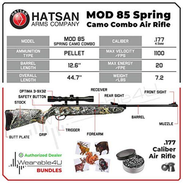 Wearable4U Air Rifle 3 Hatsan Mod 85 Spring Camo Combo Air Rifle with Wearable4U 100x Paper Targets and Lead Pellets Bundle