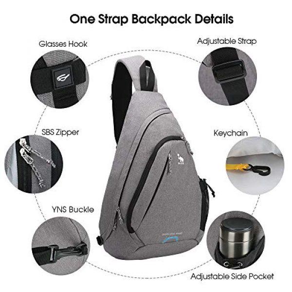 Kimlee Tactical Backpack 6 OIWAS One Strap Backpack for Men Single Strap Backpack Sling Bag Crossbody Shoulder Daypack for Boys Women