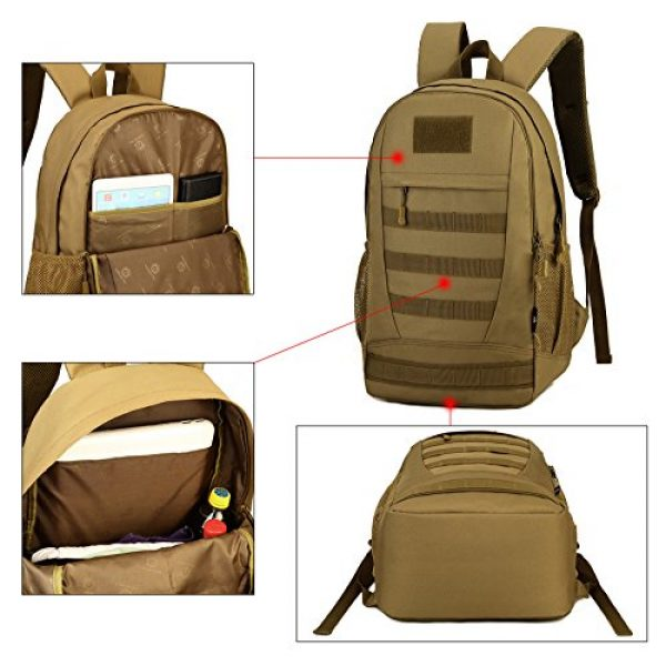 ArcEnCiel Tactical Backpack 6 ArcEnCiel Motorcycle Backpack Tactical Military Bag Army Assault Pack Rucksacks with Patch - Rain Cover Included