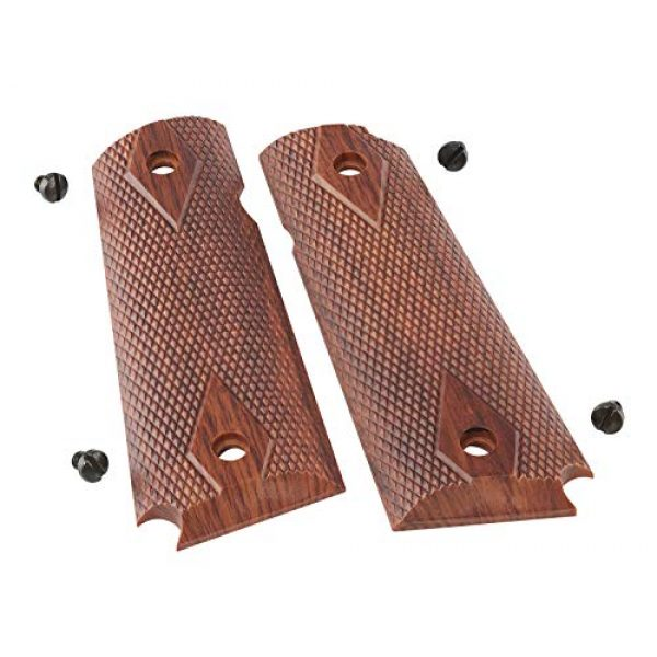 Elite Force Airsoft Pistol Grips for 1911 2 Elite Force 1911 Tac Grips - Brown, Multi (2211170), One Size