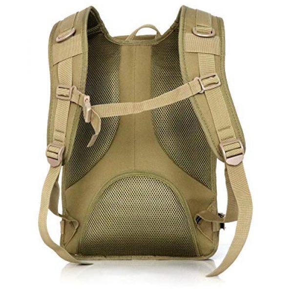 Evatac Tactical Backpack 6 Evatac Tactical Backpack for Military Combat | Large Size Khaki 35L 600D Molle Bug Out Bag Or Every Day Travel Back Pack.