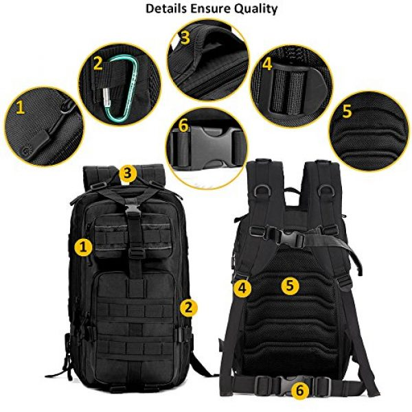 Zology Tactical Backpack 2 Zology Military Tactical Backpack for BOB GHB MOLLE Assault Bag