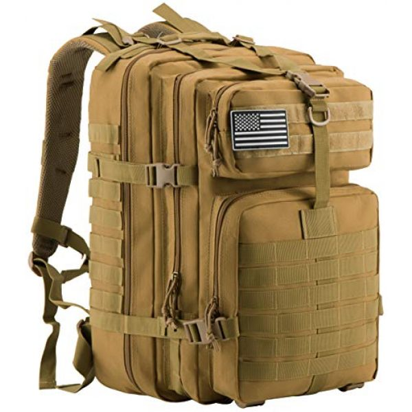 Luckin Packin Tactical Backpack 1 Luckin Packin Military Tactical Backpack, Molle Bag, Rucksack Pack, 45 Liter Large