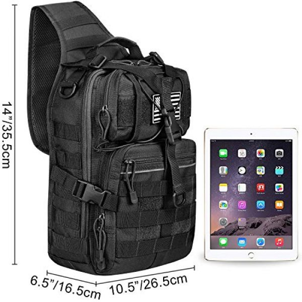 G4Free Tactical Backpack 6 G4Free Tactical Sling bag and Big version Sling Backpack for Concealed Carry