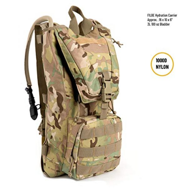MT Tactical Backpack 2 MT Military FILBE Hydration Carrier Army Tactical Backpack with Bladder Multicam