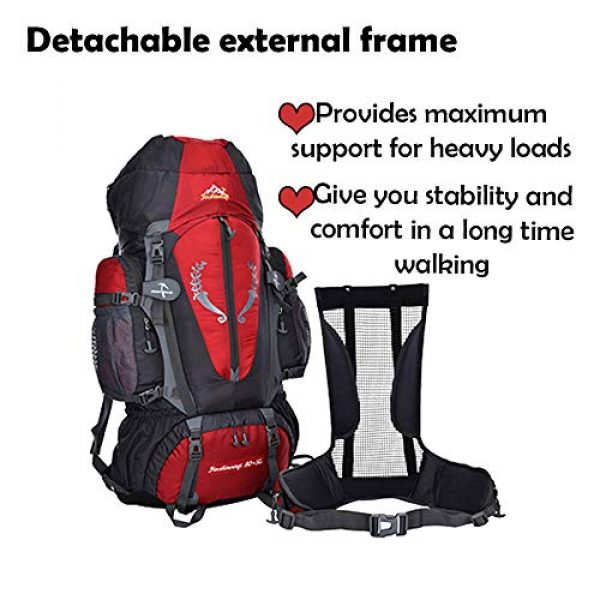 outdoor plus Tactical Backpack 5 outdoor plus Backpacking Backpack, 60L/65L/70L/85L Waterproof MOLLE Rucksack Hiking Hunting