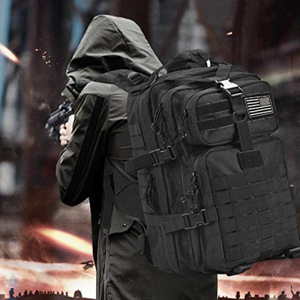 Novemkada Tactical Backpack 7 Tactical Backpack - 1000D Military Molle Army 3 Day Assault Pack Backpacks 40L