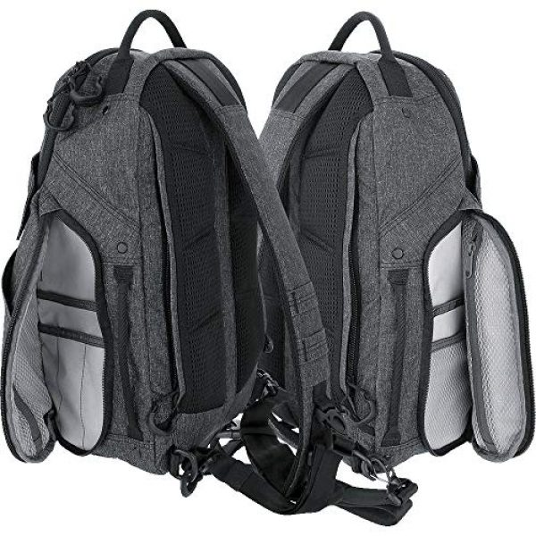 Maxpedition Tactical Backpack 4 Maxpedition Entity 16 CCW-Enabled EDC Sling Pack 16L for Covert Concealed Carry, Charcoal