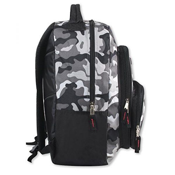 Trailmaker Tactical Backpack 3 Trailmaker Tactical Military Style Camo Backpack with Lash Tabs and Padded Back and Straps, Grey