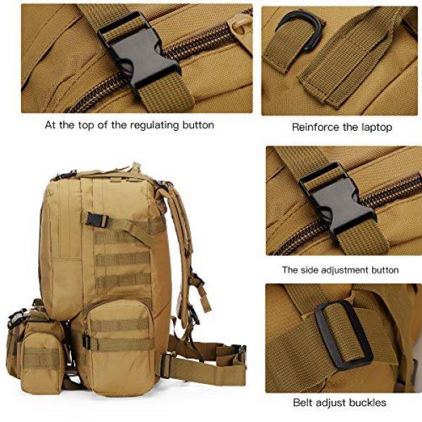 N/O Tactical Backpack 5 Camping Backpack for Men 55L Detachable Hiking Daypacks Travel Rucksack 3 day Pack